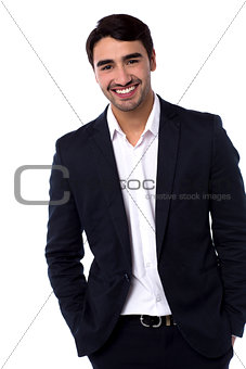 Casual portrait of handsome young businessman