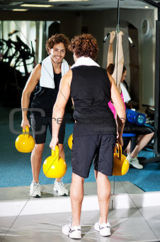 Fitness people in action, exercising