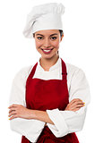 Confident female chef portrait