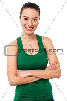 Beautiful young asian girl posing