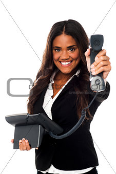 Business call for you, boss!
