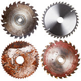 Set of circular saw blades