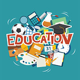 education elements background flat design