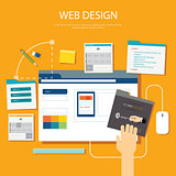 website development project design concept