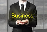businessman begging gesture golden business symbol