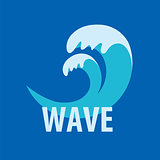 Abstract vector logo sea waves