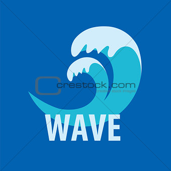 Abstract vector logo sea waves