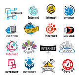biggest collection of vector logos of the Internet and network