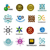 biggest collection of vector logos technology and atoms