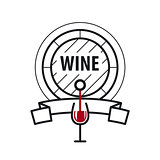 loop vector logo wine keg and a glass of wine
