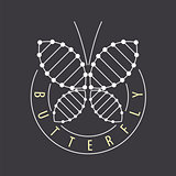vector logo abstract tech butterfly