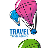 vector logo balloon flying Travel