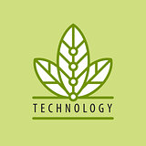 vector logo in chip technology petal