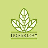 vector logo in chip technology petal