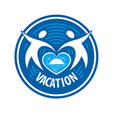 vector logo people keep the heart of the sea and the sun