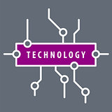 vector logo purple chip technology
