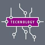 vector logo purple chip technology