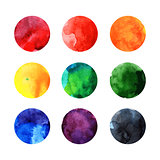 Colorful watercolor  circles