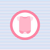 Baby cloth body color flat icon