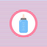 Baby feeding bottle color flat icon