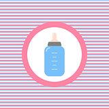 Baby feeding bottle color flat icon