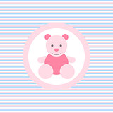 Teddy bear color flat icon