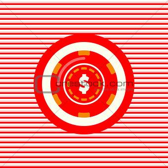 Casino chip color flat icon