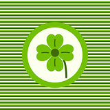 Lucky clover color flat icon