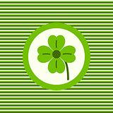 Lucky clover color flat icon