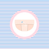 Diaper color flat icon