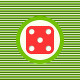Dice color flat icon