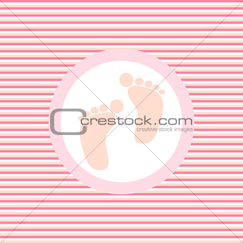 Baby footprint color flat icon