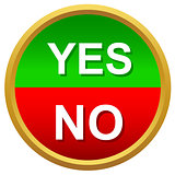 Yes or No icons vector