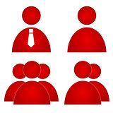 Red users icons
