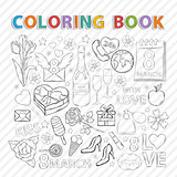 Coloring book.March set