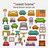 Vector  sweet home set