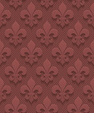 Marsala color perforated paper fleur-de-lis.