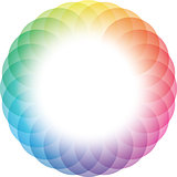 Color Wheel Frame Background.