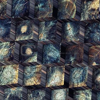 old wood blocks