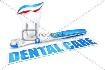 3d dental care concept