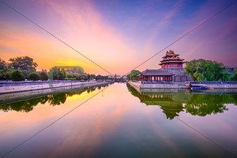 Forbidden City moat in Beijing