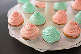 Fancy Pink and Green Cupcakes