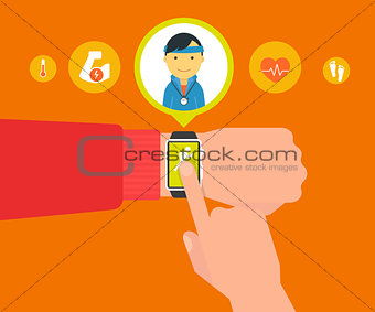 Smart wristwatch application for sport