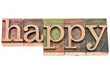 happy word typography