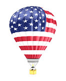 USA flag balloon