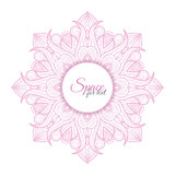 Pink vector Circle Ornament