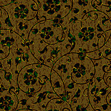 seamless floral damask pattern background