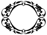 oval baroque ornamental decorative frame