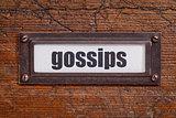 gossips file cabinet  label
