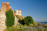 Ruins of the ancient Basilica of the Holy Mother of God Eleusa, Nesebar, Bulgaria